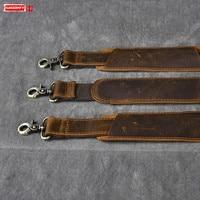 Men's Crossbody Shoulder Bag Strap Crazy Horse Leather Shoulder Strap Padded Shoulder Leather Single Shoulder Strap