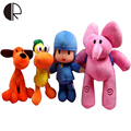 Hot POCOYO Action Figures Elly Elephant Pato Duck Loula Dog Anime Plush Sound Dolls Children Favorite Educational Stuffed Toys