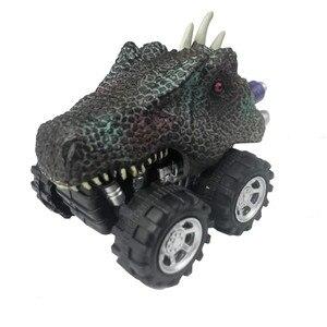 Image 2 - Offre spéciale Mini dinosaure voiture modèle enfants jouet dinosaure tirer arrière voiture jouet tyrannosaure voiture Action Figure jouets cadeaux de noël