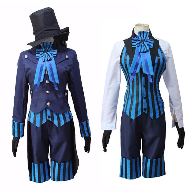 Black Butler Kuroshitsuji Book of the Atlantic Ciel Phantomhive Cosplay Costume Full Set Formal Dress Halloween Party Uniform