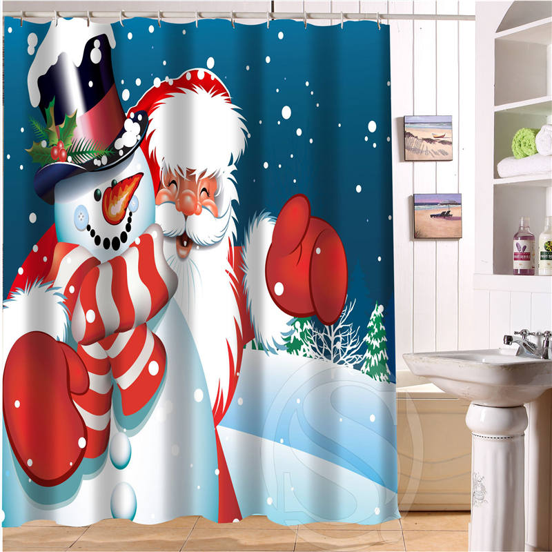 online get cheap santa shower curtains alibaba group. Black Bedroom Furniture Sets. Home Design Ideas