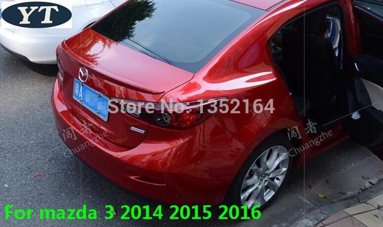 Becquet arrière ABS non peint pour Mazda 3 2014 2015 2016