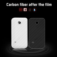 ca66ef1ee Back Cover Carbon Fiber Film For Huawei Y3II LUA-L01 LUA-L02 LUA-L03 Cover  Film Protector Anti-Scraches Soft Cell Phone Film