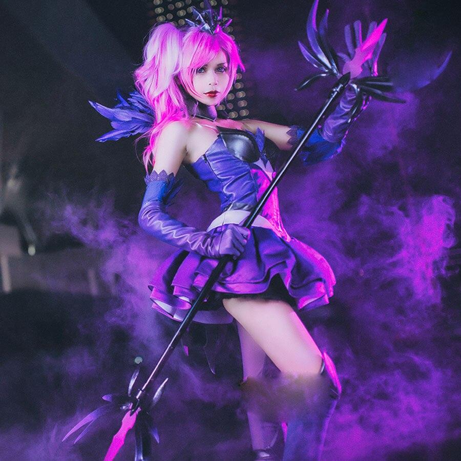 LOL jeu la dame de luminosité Lux Costume Costume Cosplay Costume Halloween nouvelle robe de peau gant chaussette jambe anneau jupe orthèse