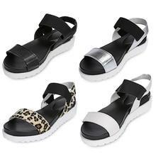 Gamiss Women Beach Sandals Summer Casual Flat Shoes Peep-toe Roman Sandals Lady Flip Flops Footwear Gladiator Sandalias Mujer