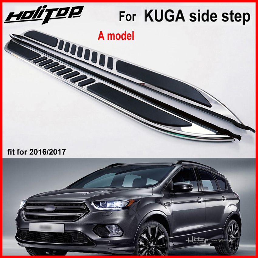 New arrival for Ford KUGA Escape footboard side pedals nerf bar,aluminum alloy.high quality guarantee,free shipping to Asia.