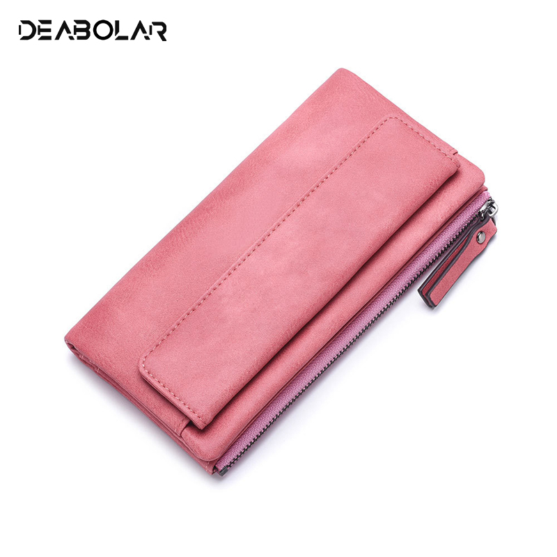 Women's Hand Hold Wallet Long Korean Fashion Trends Personality Small Clean Youth Student Zipper Cell Phone Pocket Card Holders