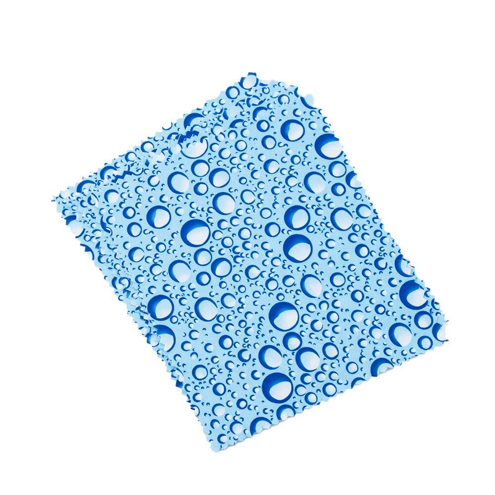 10 Piezas De Microfibra De Gotas De Agua Patrón Gafas Toallitas De Limpieza De Lentes De Cámara De Pantalla Multi-propósito Herramientas De Limpieza