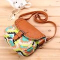 The European and American wind ladies fashion canvas cloth leisure cloth packet 4 color women shoulder bag messenger bag