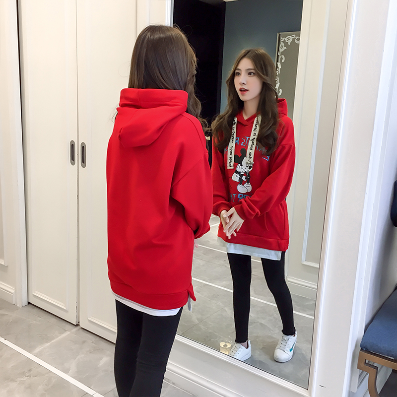 Cartoon Mickey Women Sweater 2017 autumn and winter new Korean fashion dress maternity sweater hedging