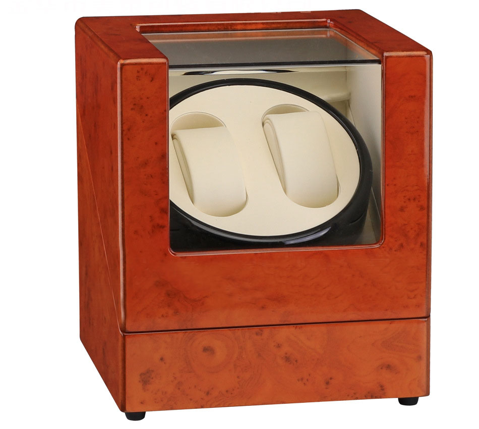 Automatic Watch Winder Box Plug Battery Global Use Wood Paint Rotate Watches Japan Motor Accessories Watches Watch Box Winders in Watch Boxes from Watches