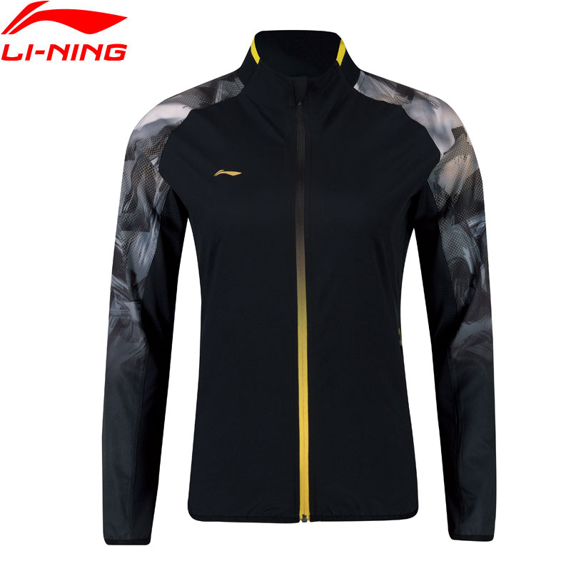 Li-Ning Women Badminton Series Jackets National Team 92%Polyester 8%Spandex Regular Fit LiNing Sports Jackets AYYN014 WWJ924 : 91lifestyle