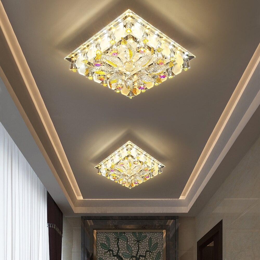 Deckenleuchten & Lüfter Licht & Beleuchtung Vornehm Gang Lampe Korridor Lampe Moderne Einfache Kreative Persönlichkeit Xuan Guan Lampe In Led Kristall Embedded Decke Scheinwerfer Lm4131445