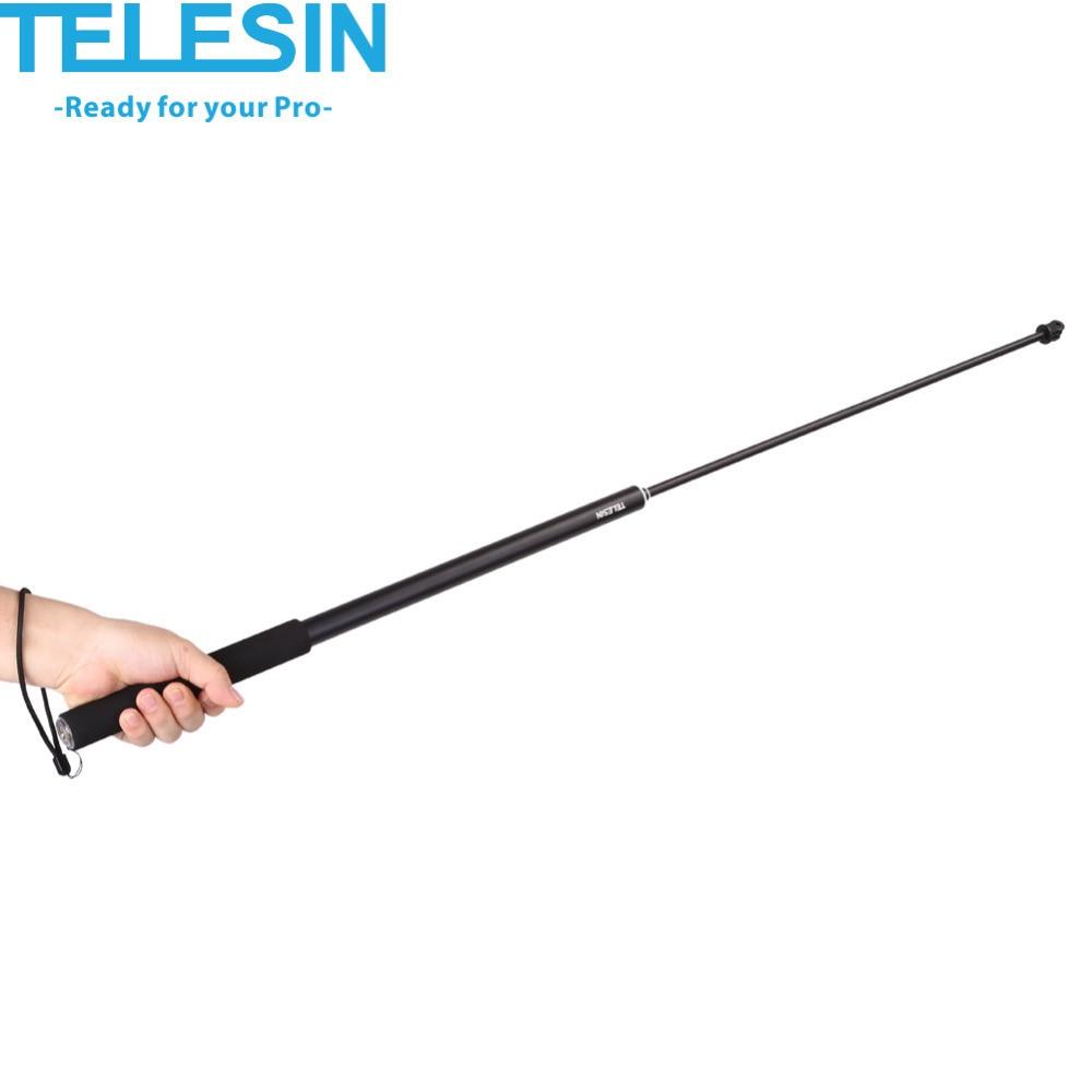 telesin aluminum alloy extendable handheld selfie stick telescoping pole holder stand for gopro hero 5 4