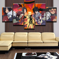 JIE DO ART 5 Pictures Naruto Animated Characters Art Pictures Living Room Cartoon Painting Home Decoration