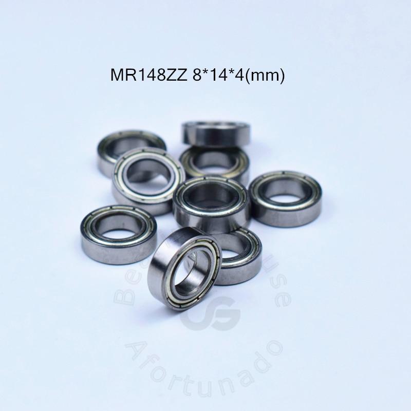 цена на MR148ZZ free shipping ABEC-5 bearing Metal Sealed Miniature Mini Bearing MR148 MR148ZZ 8*14*4 MM chrome steel bearings