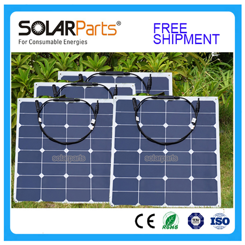BOGUANG 4x 50w free shipment Solar Panel flexible 12V Solar system solar module solar cell outdoor RV/marine/boat cheap sales 300w solar system from china suit for car ship boat with six pcs of module 50w and mppt solar conroller