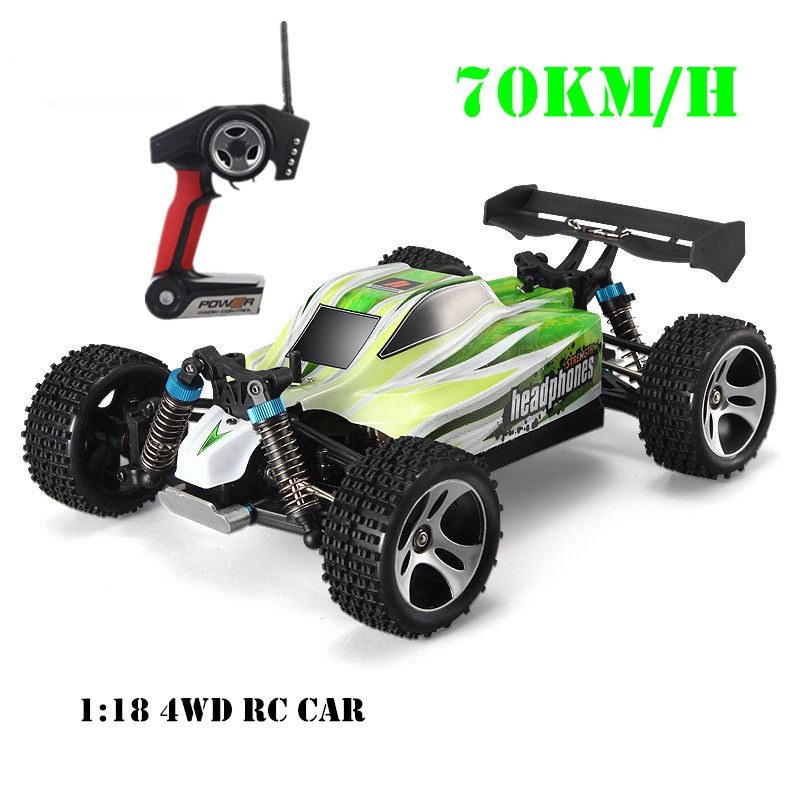 1:18 A959 2 батареи обновление версии A959-B 70 км/ч 2.4 г RC автомобиль 4WD радио Управление грузовик RC багги высокая скорость внедорожных ездить на игр... ...