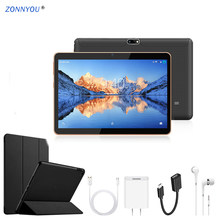 10.1 Tablet PC Android 8.0 3G LTE Octa Core 4 GB Cash dan Tarjetas IPS gps Karet Case Tablet PC + Paket(China)