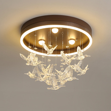 Modern LED Ceiling lights Nordic Iron fixtures Novelty Acrylic Bird lighting for kids bedroom dining room Ceiling lamps cheap gaobi 15-30square meters Bed Room Foyer Study 90-260V None Aluminum CRYSTAL Ironware + Acrylic Remote Control LED Bulbs