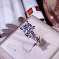 XI FAN Fair Engagement Wedding Rings Cubic Zirconia Silver CZ Stone 925 sterling silver Jewelry For Women anel Wholesale XF105