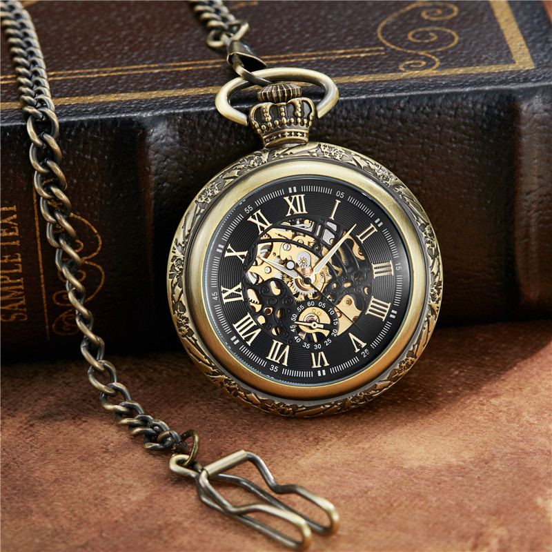 Marrom do vintage Roman Dial Relógio de