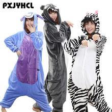 Adult Anime Kigurumi Onesies Zebra Golf Costume For Women Animal Blue Donkey Wolf Stitch Onepieces Sleepwear Home Cloths Girl