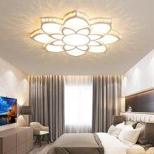 купить Crystal Modern Led Ceiling lights for Children Room Living Room Bedroom Deco Surface Mounted Ceiling Lamp fixtures White Finish по цене 7672.28 рублей