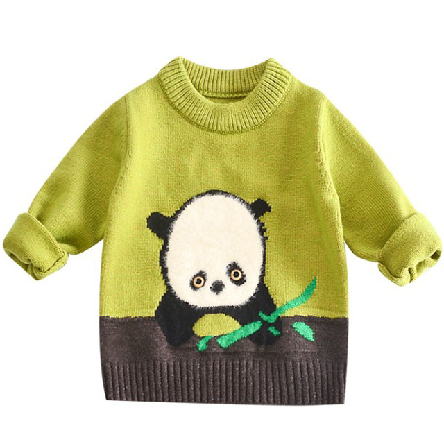 36da4ab1bda DZIECKO Baby Girl Knitting Tops Sweaters Winter Clothes Pullovers Cute  Panda Pattern Design Outfit O Neck Baby Kids Knitwear-in Sweaters from  Mother & ...