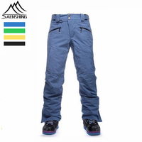 2015 Winter Snowboard Pants Male Ski Pants Mens Snow Trousers Thermal Waterpfoof Esqui Pantalones Hombre