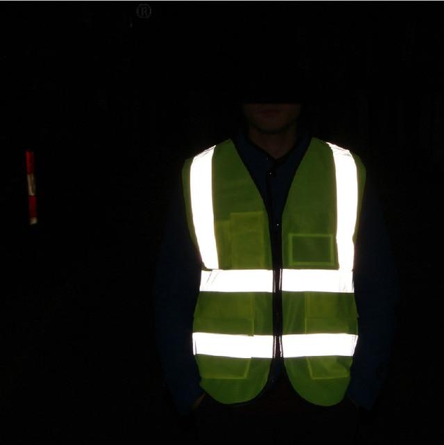 YUANMINGSHI Car Motorcycle Reflective Safety Clothing High Visibility Safety Vest Warning Coat Reflect Stripes Tops Jacket 1
