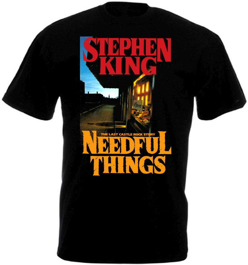 Shirt Shop Crew Neck Short-Sleeve Compression Needful Things V.2 Mens Black T-Shirt Poster Sizes S To 3Xl T Shirts For Men