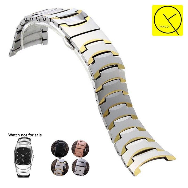 26X17mm 15x10mm Licht Wolfram Seel Armbänder Edelstahl Schmetterling Schnalle für Rado 6027 Serie Uhrenarmbänder Zubehör + Werkzeug