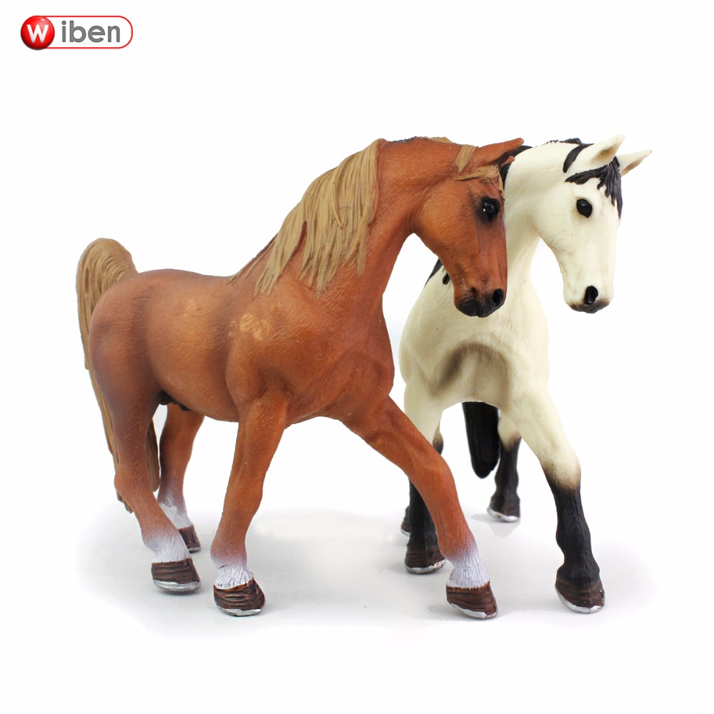 Wiben Horse High Quality Simulation Animal Model Action & Toy Figures Educational Christmas Gift Kids recur toys high quality horse model high simulation pvc toy hand painted animal action figures soft animal toy gift for kids