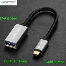 Ugreen USB 3.0 Type C OTG Кабель Для Xiaomi Mi5 Mi4C 5 Гбит USB C OTG Кабель Для Huawei P9 Plus Mate 9 V8 Meizu Pro 6 Pro 5 Macbook