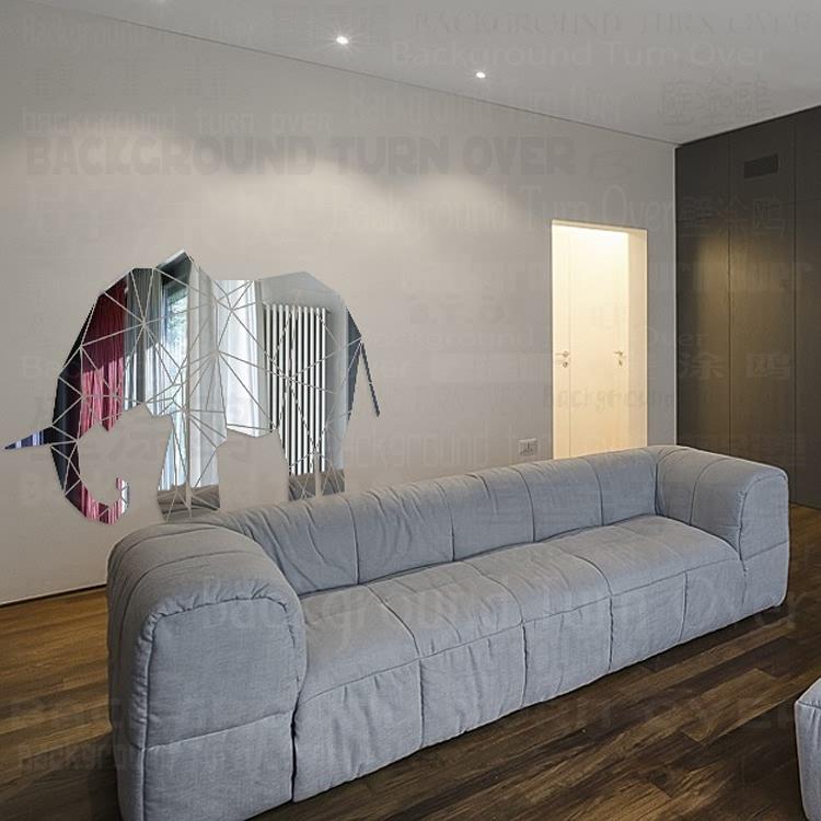 creativo d animales reflexivo acrlico espejo etiqueta de la pared decorativos elefante para nios parvulario decoracin