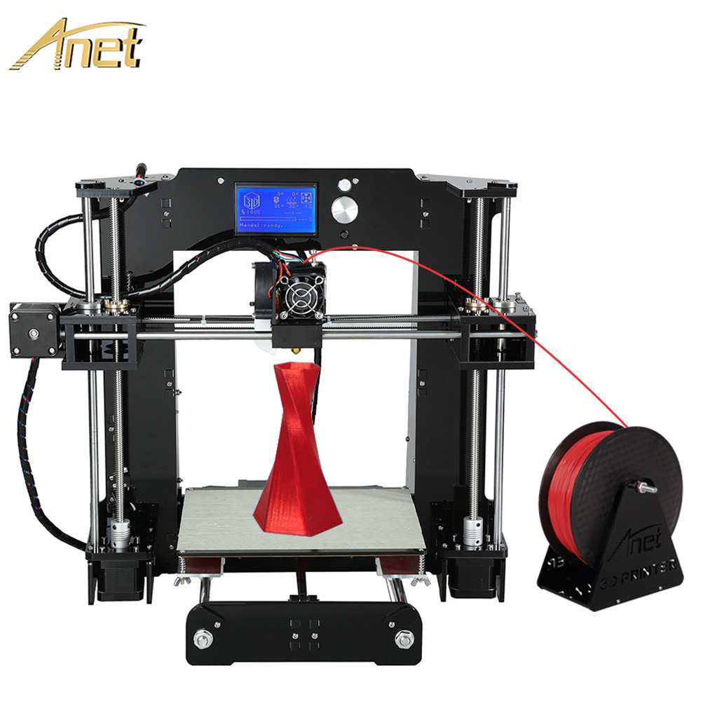 2016 11.11 Promotion Anet Auto leveling Optional Large Printing Size Reprap Prusa i3 3D Printer Kit DIY With Free Filaments