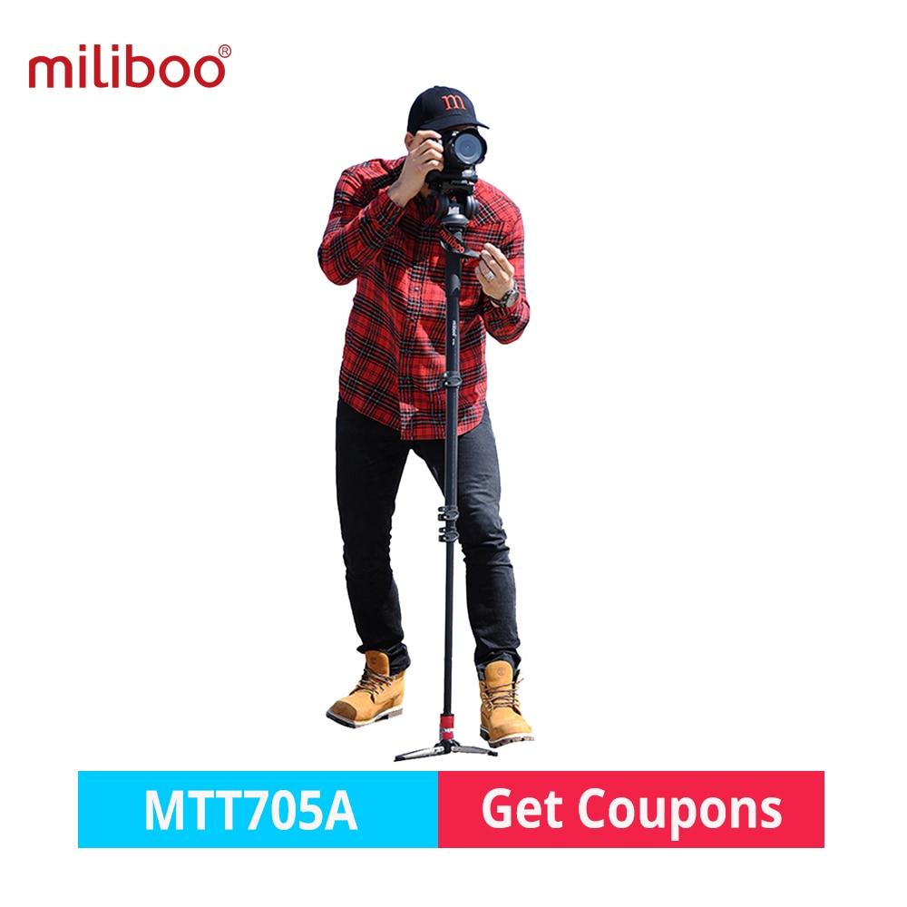 miliboo MTT705A monopod tripod Professional Aluminum Portable Camera monopod with Hydraulic Head tripod stand for Sony Nikon все цены