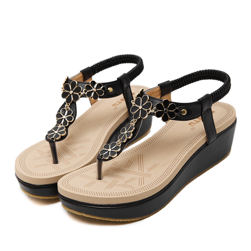 summer Women Sandals Gladiator high platform comfortable Beach Sandal Flip Flops casual shoes Sandals women 2017 7-BT535 phyanic 2017 gladiator sandals gold silver shoes woman summer platform wedges glitters creepers casual women shoes phy3323
