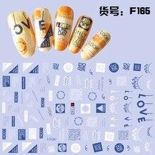Супер тонкий себя липкой 3D Nail Art ползунок стикер Одуванчик цветок глаз стихотворение буквы алфавита F165-174