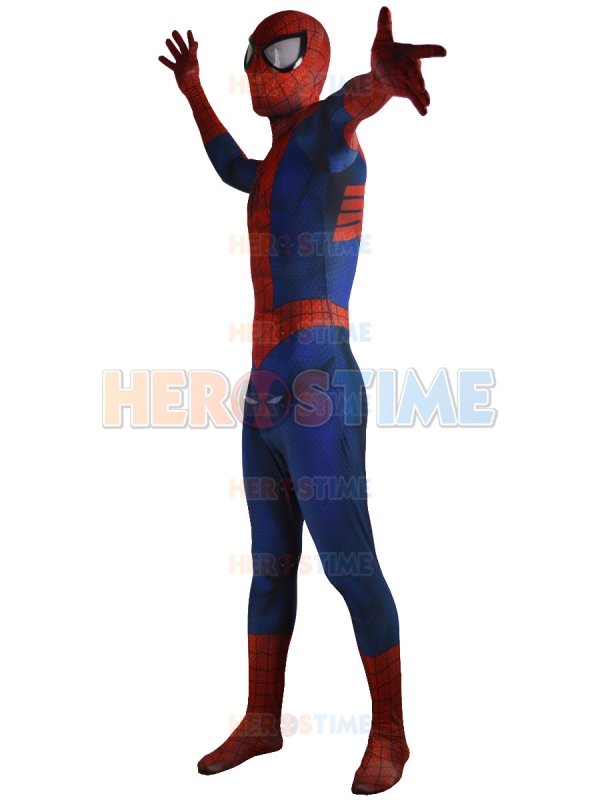 Ultimate Spiderman Kostyum Klassik Spandex Tam Superhero Spiderman - Karnaval kostyumlar - Fotoqrafiya 3