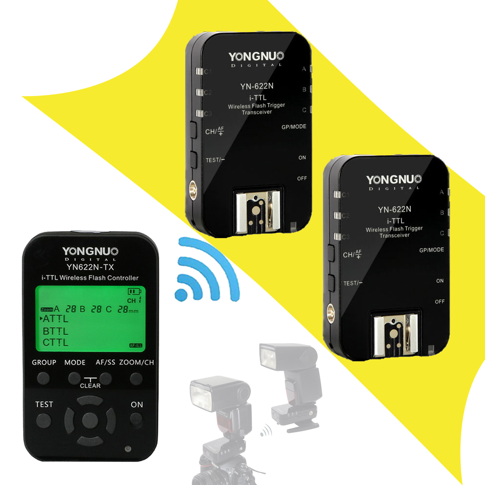 YONGNUO YN622N YN-622N YN622N-KIT 622N-TX Wireless TTL HSS Flash Trigger Set Transmitter x1+2x Transceiver Receiver For Nikon 2pcs yongnuo yn622n ii yn622n tx i ttl wireless flash trigger transceiver for nikon camera for yongnuo yn565 yn568 yn685 flash