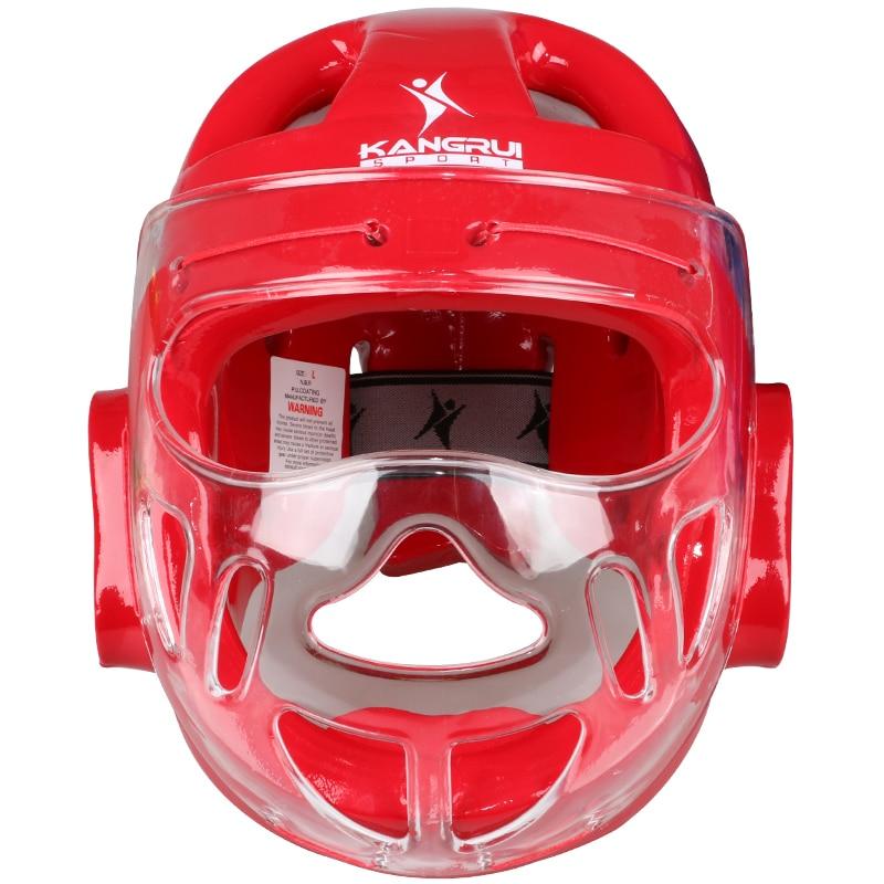 ФОТО Sanda Karate Muay Thai Boxeo Taekwondo Boxing Helmet Training Helmet for Kids Adults Men Women Blue Red
