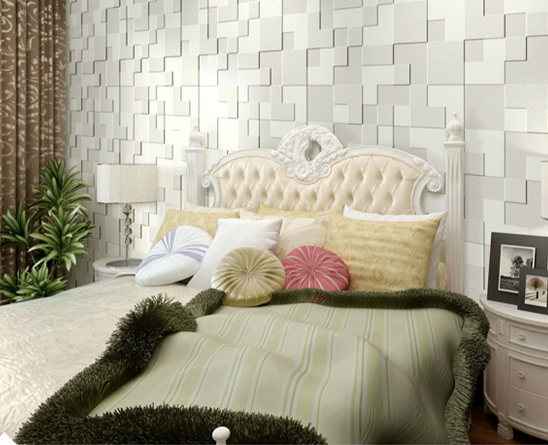 Relief Murals Wall Paper Non-woven Wallpaper For Living Room Tv Modern Brief Mosaic Wallpaper 3d Stereo Background Wallpaper