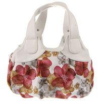 Top Bán Thời Trang xách Phụ Nữ PU leather Bag Tote Bag In Túi Túi Xách Satchel-Giấc Mơ hoa màu xanh lá cây + trắng Handstrap