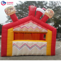 4*3*3m inflatable carnival treat stand stall portable inflatable tent shop for popcorn cotten candy snack booth