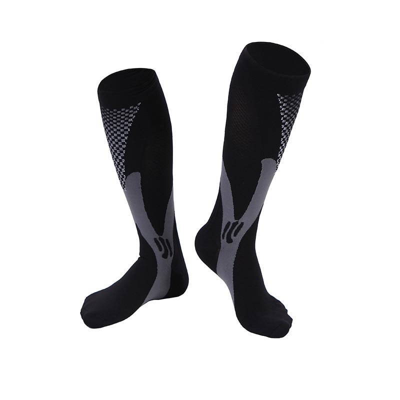 Men Women Leg Support Stretch Compression Socks Below Knee socks men winter mens wool sock drop shipping