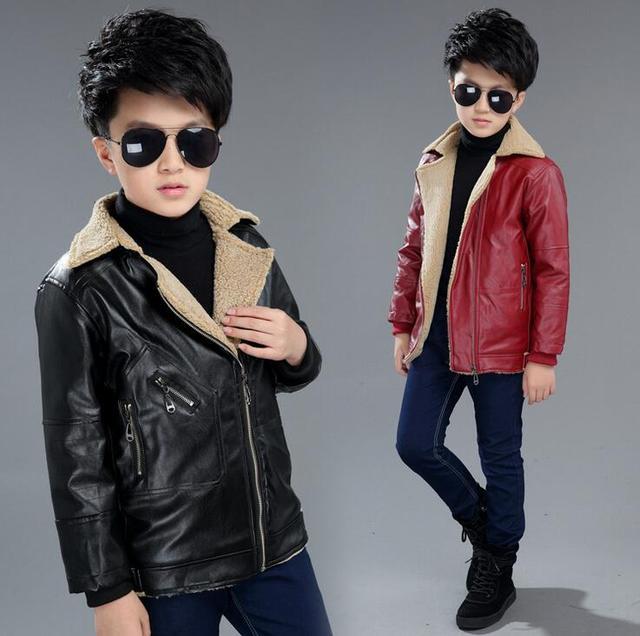526fb07e09bb 2017 new children coat autumn winter boys thick warm jacket parkas ...