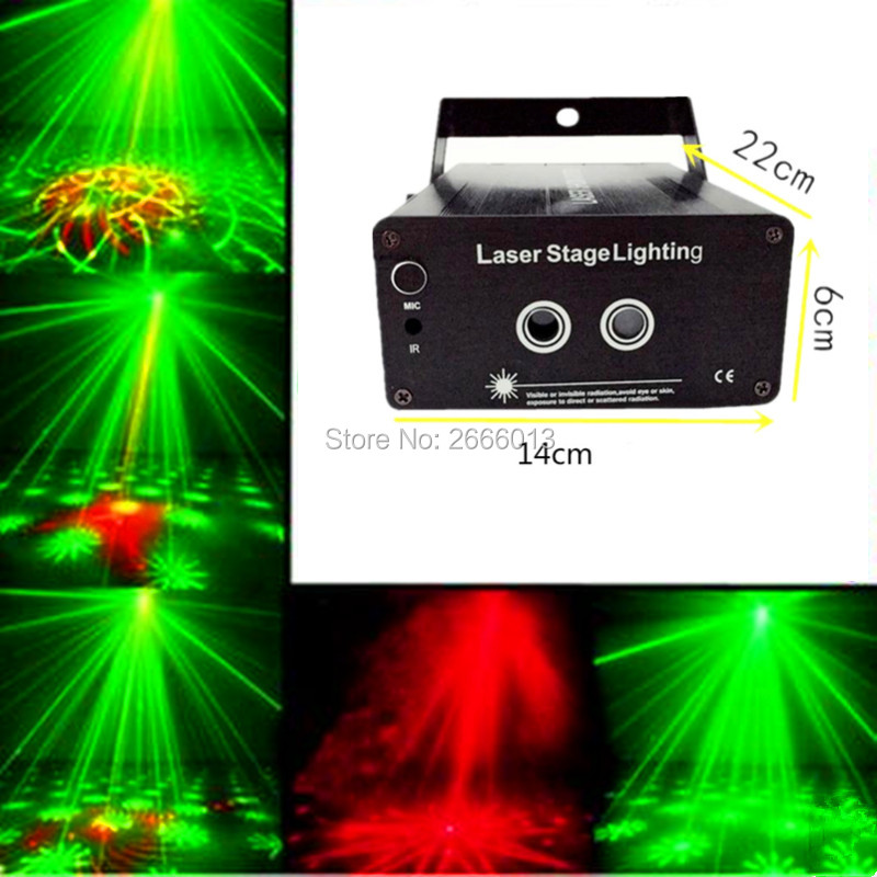 RG 48 Patterns 2 lens Led Laser Stage Lighting Effect Red Green DJ Home Decorative Laser Projector Party Disco Show transctego laser disco light stage led lumiere 48 in 1 rgb projector dj party sound lights mini laser lamp strobe bar lamps