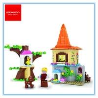 SERMOIDO 37001 Beauty The Beast Princess Belle S Enchanted Castle Building Blocks Girl Friends Kids Toys